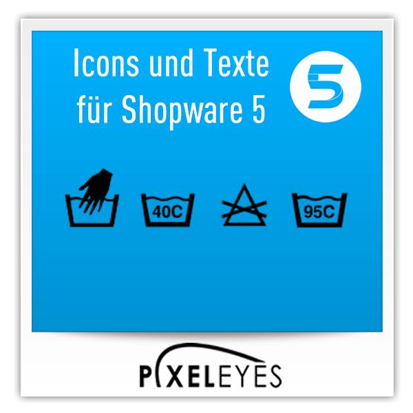 Icons und Texte für Shopware 5